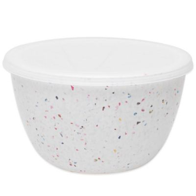 Zak! Designs® 3-Quart Confetti Mixing Bowl with Lid in Red