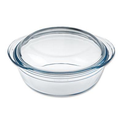 Arcuisine 1.7 qt. Round Casserole Dish with Lid