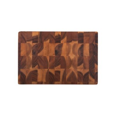 12-Inch x 18-Inch Acacia Checker Chop Block