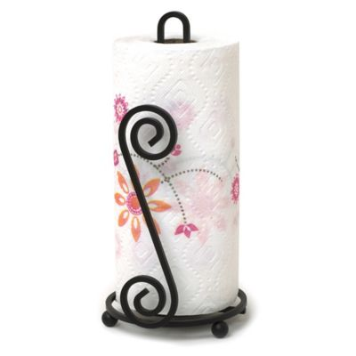 Spectrum™ Scroll Square Paper Towel Holder in Black