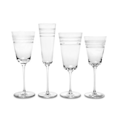 kate spade new york Library Stripe™ 7 1/2-Ounce Wine Glass