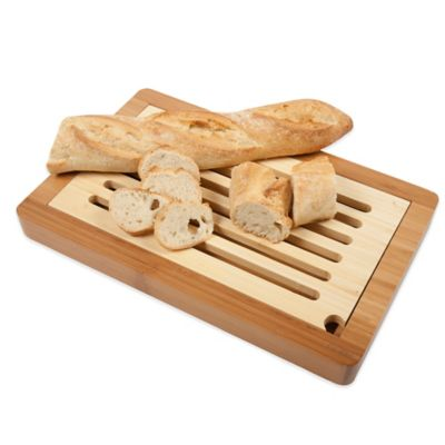 14-1/2-Inch x 9-1/3-Inch Slotted Bread Cutting Board