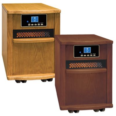 Large Infrared Cabinet Heater in Oak