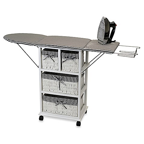 Buy Rolling Ironing Board Station With Storage From Bed