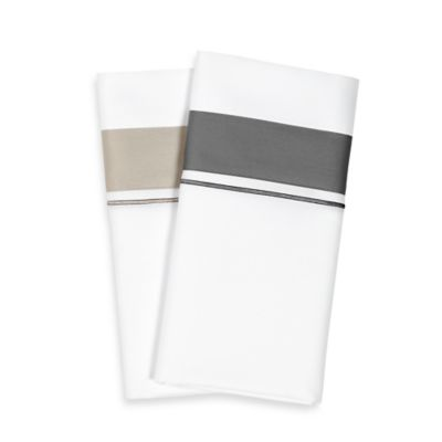 Frette At Home Arno King Sheet Set in White/Stone