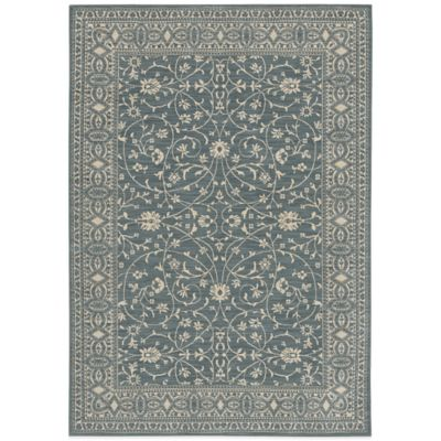 Karastan English Manor Somerset Lane 2-Foot 5-Inch x 8-Foot Runner in Blue