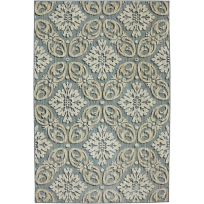 Karastan Euphoria Findon 2-Foot 1-Inch x 7-Foot 10-Inch Runner in Bay Blue