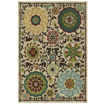 Karastan Intermezzo Khiva 9-Foot 6-Inch x 12-Foot 11-Inch Rug in Tomatillo Red