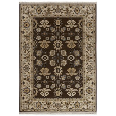 Karastan English Manor Stratford 3-Foot 8-Inch x 5-Foot Rug in Mahogany