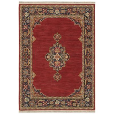 Karastan English Manor Canterbury 3-Foot 8-Inch x 5-Foot Rug in Red