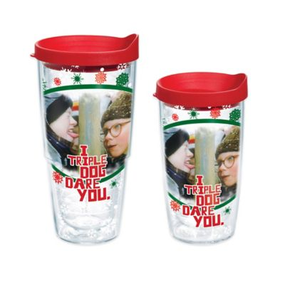 "Tervis® ""A Christmas Story"" ""I Triple Dog Dare You"" Wrap 16 oz. Tumbler with Lid"