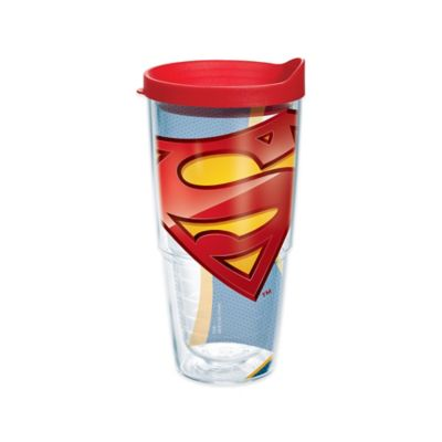 Superman Wrap 24 oz Tumbler with Lid
