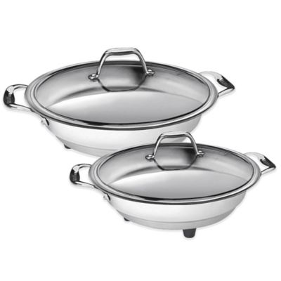 CucinaPro™ 12-Inch Stainless Steel Interior Electric Skillet