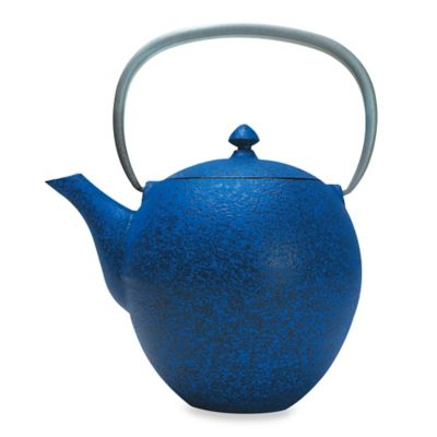 Primula® Sakura Cast Iron Tea Pot with Infuser in Blue