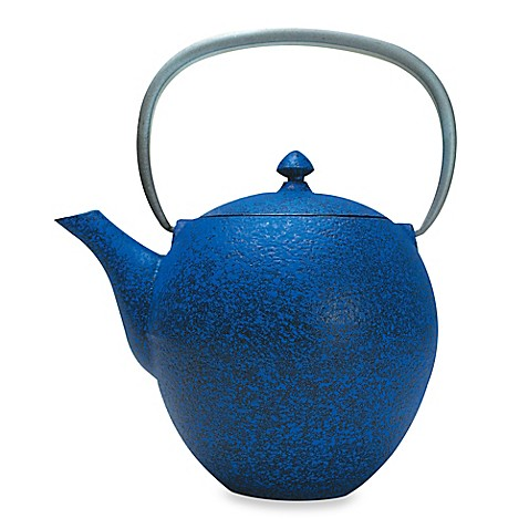 Buy Primula Sakura Cast Iron Teapot With Infuser In Blue From Bed Bath Beyond