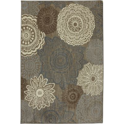 Karastan Euphoria Mossat 2-Foot 1-Inch x 7-Foot 10-Inch Runner in Brown