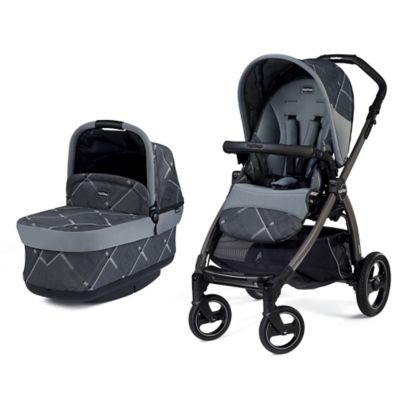 Peg-Perego Book Pop-Up Stroller in Portraits Grey