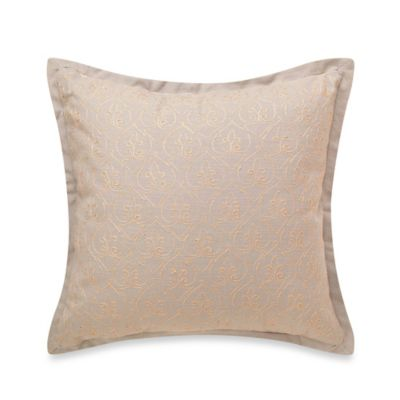 Foundry Fleur Embroidered Square Throw Pillow