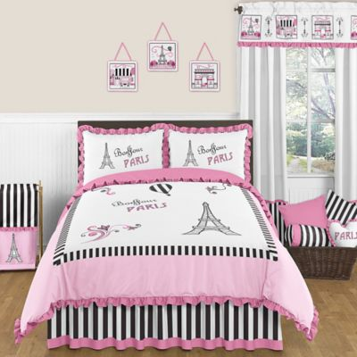 Sweet Jojo Designs Paris Full/Queen Comforter Set