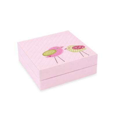 Wolf Designs Puzzle Box in Pink Bird