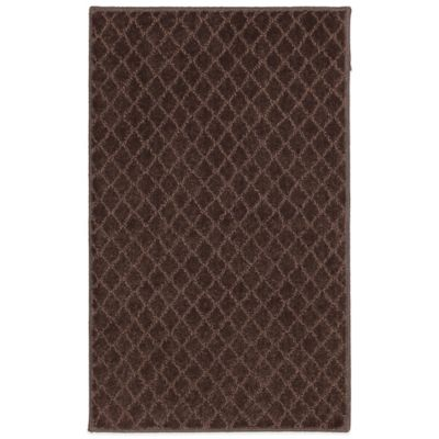 Mohawk Home SmartStrand Diamond 2-Foot 6-Inch x 3-Foot 10-Inch Rug in Chocolate