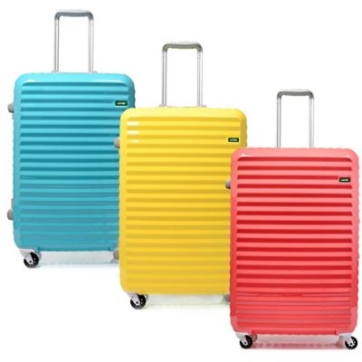 Lojel Groove Frame 24-Inch Spinner Luggage in Yellow