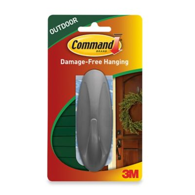 3M Command Large Outdoor Hook in Grey