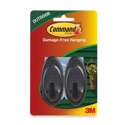 3M Command 2-Pack Medium Outdoor Hooks in Grey