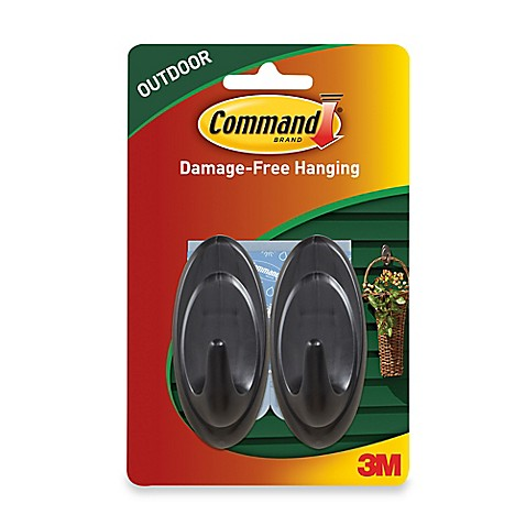 buy 3m command 2 pack medium outdoor hooks in grey from bed bath