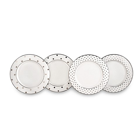 kate spade new york Larabee Road Platinum™ Tidbit Plates (Set of 4)