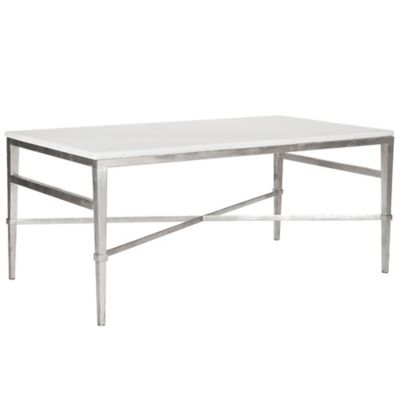 Safavieh Acker Cocktail Table in Silver