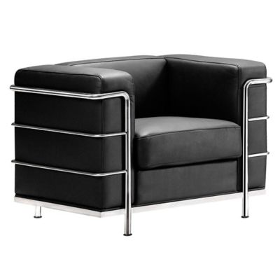 Zuo® Modern Fortress Arm Chair in Black