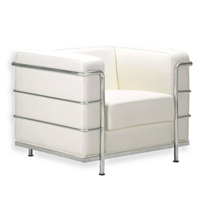 Zuo® Modern Fortress Arm Chair in White