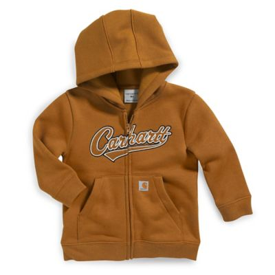 Carhartt® Size 2T Fleece-Lined Zip-Front Hoodie in Brown