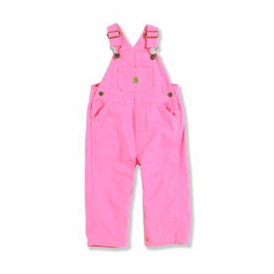 Carhartt® Size 6M Washed Microsanded Canvas Bib Overalls in Pink