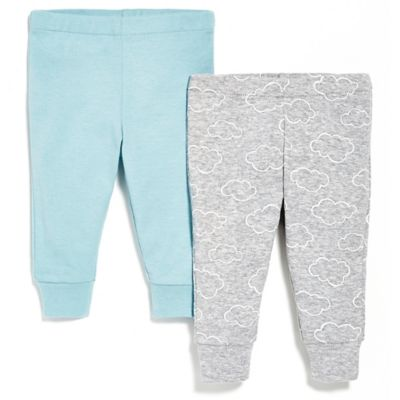 SKIP*HOP® Newborn Baby Pant 2-Pack in Blue/Grey