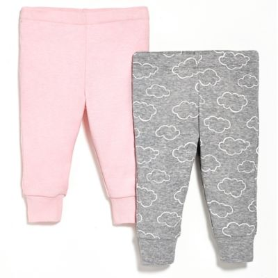 SKIP*HOP® Newborn 2-Pack Baby Pants in Pink/Grey