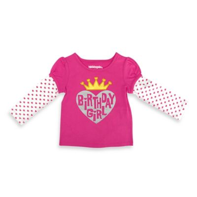 "Kidtopia Size 18M ""Birthday Girl"" Long Sleeve T-Shirt in Pink"