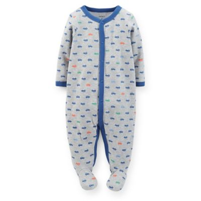 Carter's® Size 6M Snap-Front Car Footie in Grey