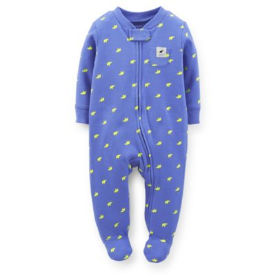 Carter's® Size 9M Zip-Front Elephant Footie in Blue
