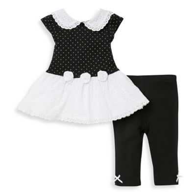 Little Me Dress and Legging Set