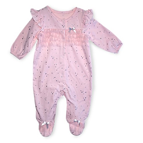 Buy Absorba Size 3 6M Love Footie in Pink from Bed Bath