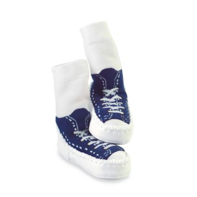 Sock Ons® Mocc Ons® Size 12-18M Blue Sneaker Slipper Socks