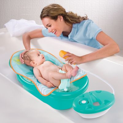 buy summer infant bath tub sling with warming wings in blue from bed bath a. Black Bedroom Furniture Sets. Home Design Ideas