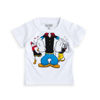 FREEZE Size 4T Classic Popeye Short Sleeve T-Shirt in White