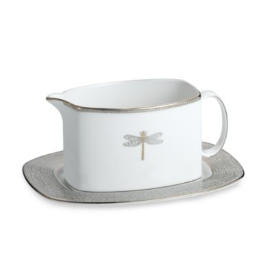 kate spade new york June Lane™ Platinum Gravy Boat and Stand