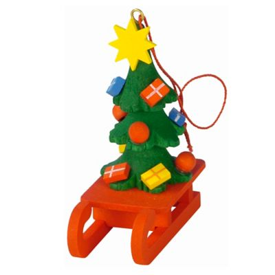 Christian Ulbricht Hanging Tree on Sled Christmas Ornament