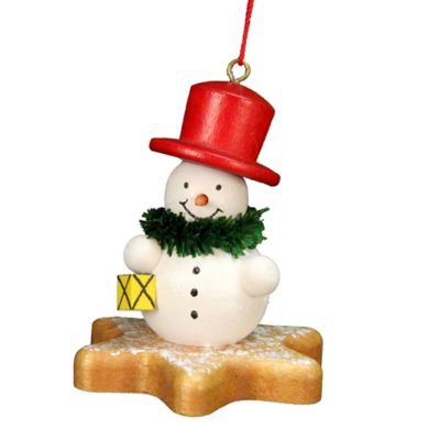 Christian Ulbricht Snowman on a Star Christmas Ornament