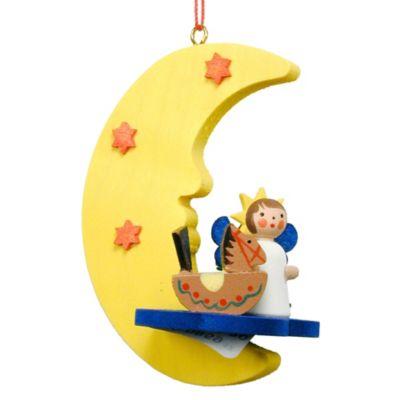 Christian Ulbricht Angel Over the Moon Ornament