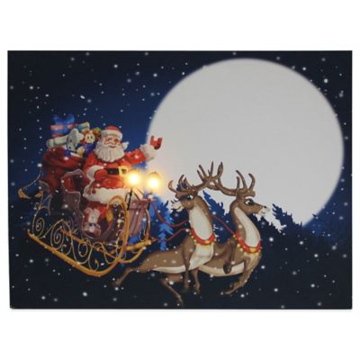 Kurt Adler Battery-Operated Lighted Santa Wall Decoration